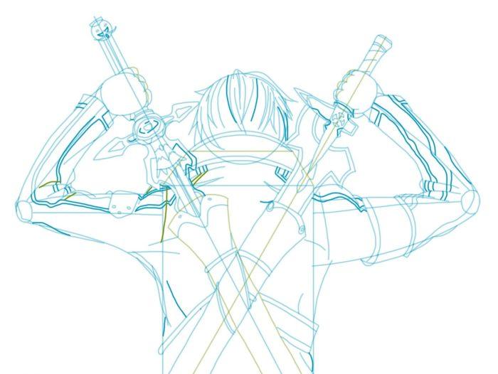 Рисовать Кирито из аниме 8