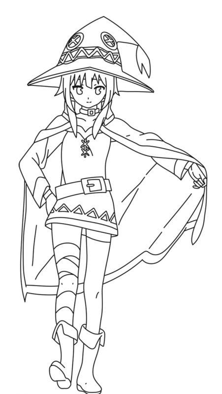 Как нарисовать Мэгумин из аниме 10