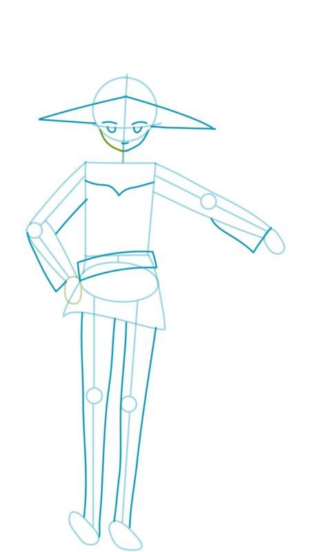 Как нарисовать Мэгумин из аниме 3