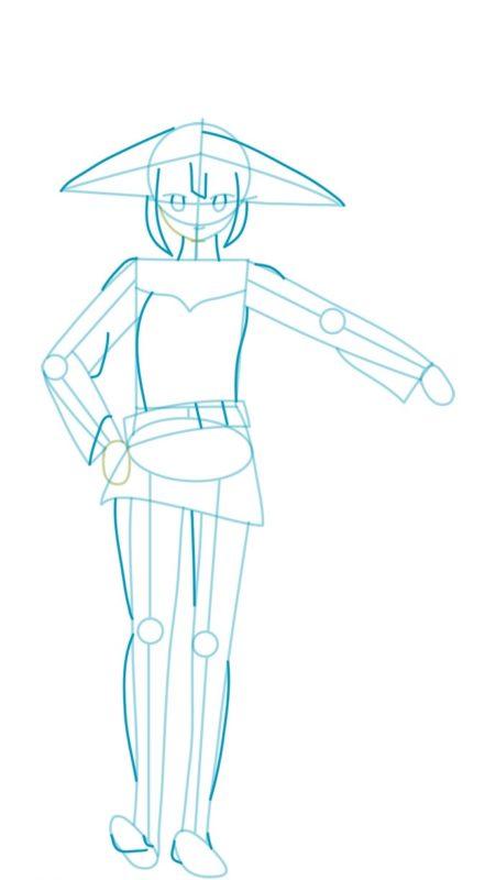 Как нарисовать Мэгумин из аниме 4
