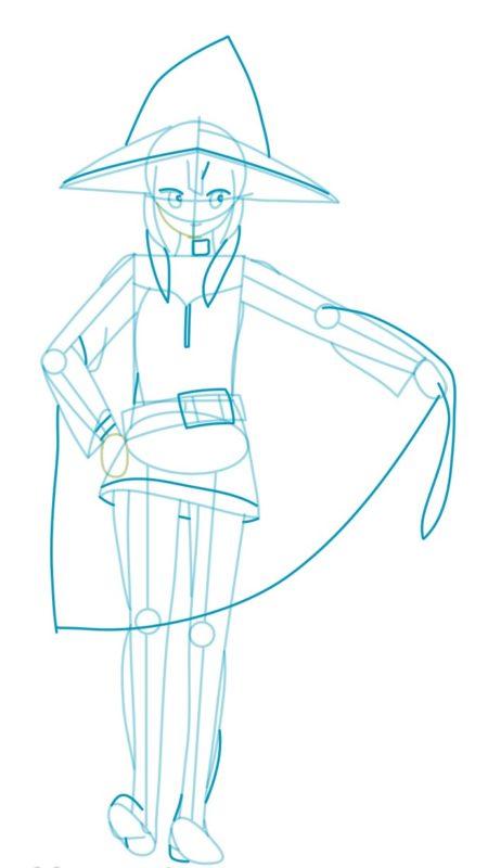 Как нарисовать Мэгумин из аниме 5
