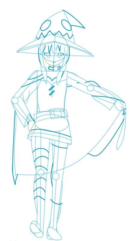 Как нарисовать Мэгумин из аниме 6