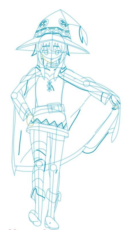Как нарисовать Мэгумин из аниме 8