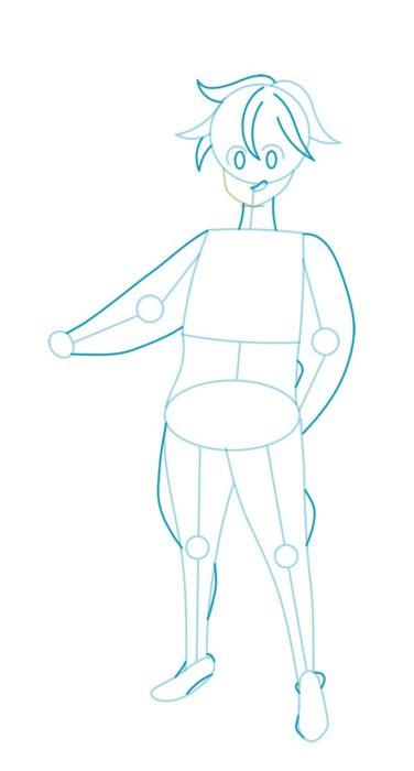 Как нарисовать Мелиодаса 3