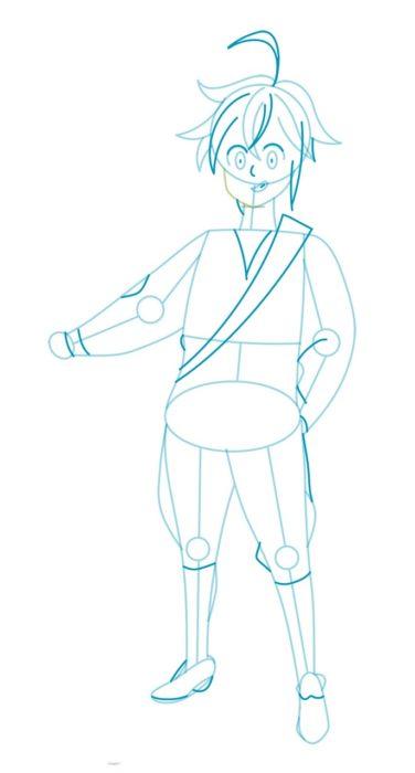 Как нарисовать Мелиодаса 4