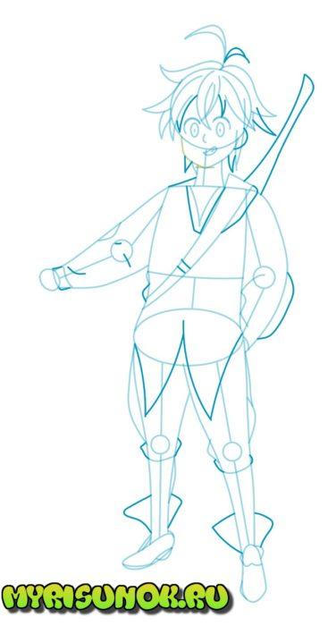 Как нарисовать Мелиодаса 5