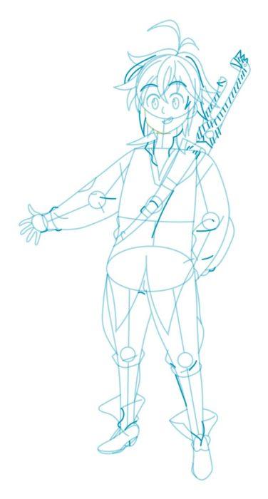 Как нарисовать Мелиодаса 7