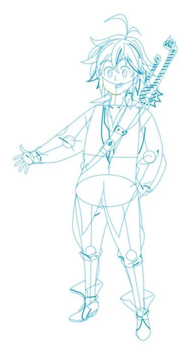 Как нарисовать Мелиодаса 8