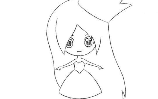 как нарисовать принцессу в стиле чиби 6