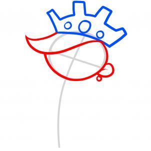 Как нарисовать принцессу 3