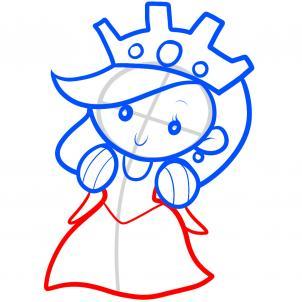 Как нарисовать принцессу 5