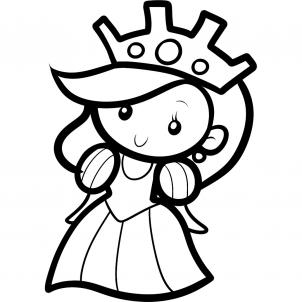 Как нарисовать принцессу 7