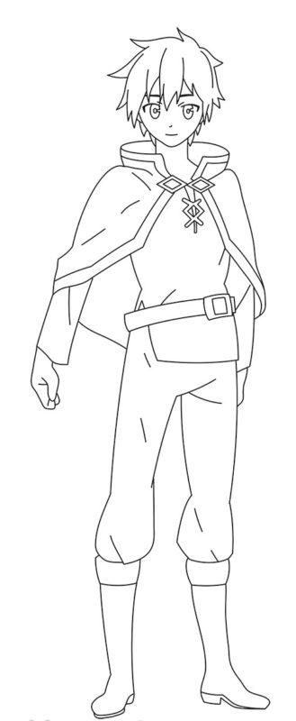 Как нарисовать Казуму Сато 10