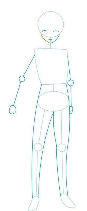 Как нарисовать Казуму Сато 2