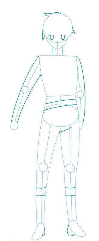 Как нарисовать Казуму Сато 3