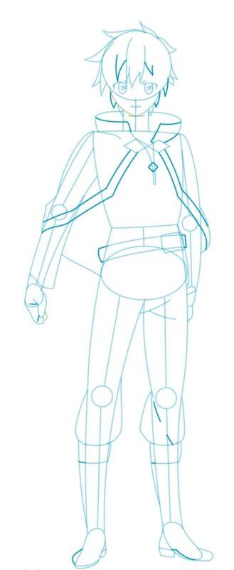 Как нарисовать Казуму Сато 6