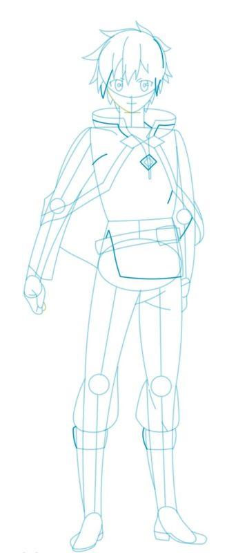 Как нарисовать Казуму Сато 7