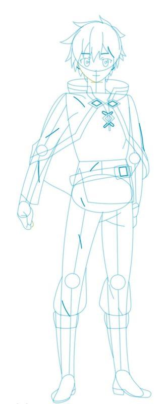 Как нарисовать Казуму Сато 8