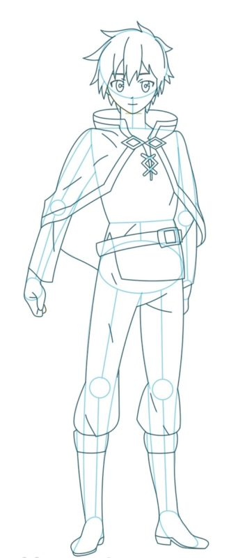 Как нарисовать Казуму Сато 9