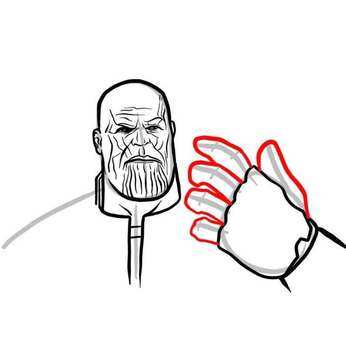 Рисуем поэтапно Таноса 10