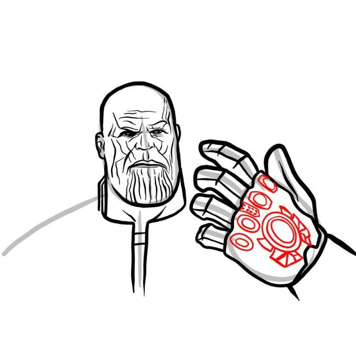 Рисуем поэтапно Таноса 12