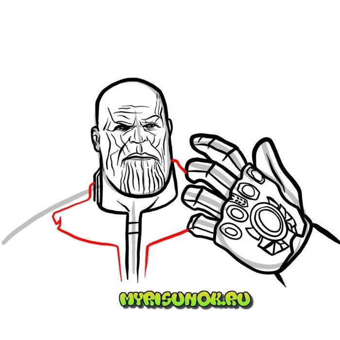 Рисуем поэтапно Таноса 13