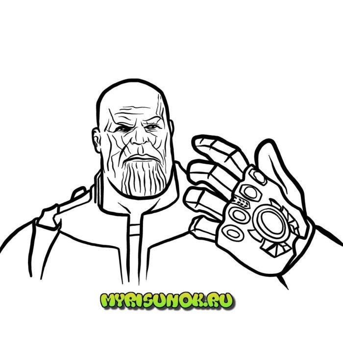 Рисуем поэтапно Таноса 15
