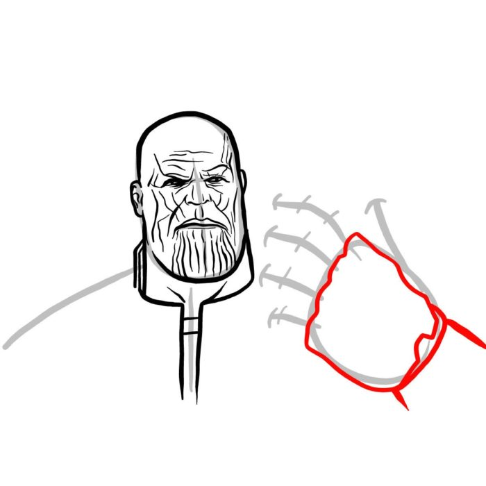 Рисуем поэтапно Таноса 9