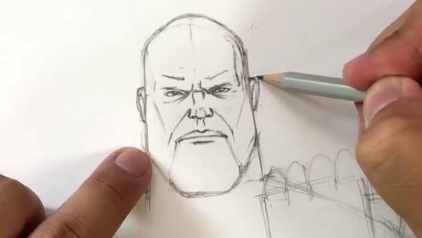 Как нарисовать Таноса из фильма 10