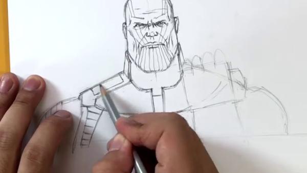 Как нарисовать Таноса из фильма 13
