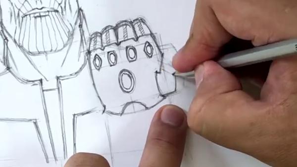 Как нарисовать Таноса из фильма 15
