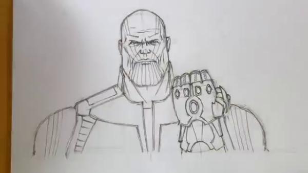 Как нарисовать Таноса из фильма 17