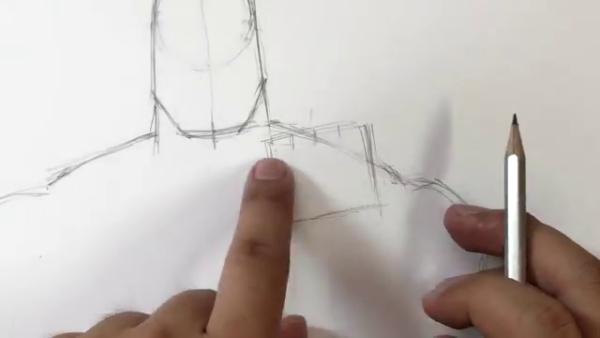 Как нарисовать Таноса из фильма 5