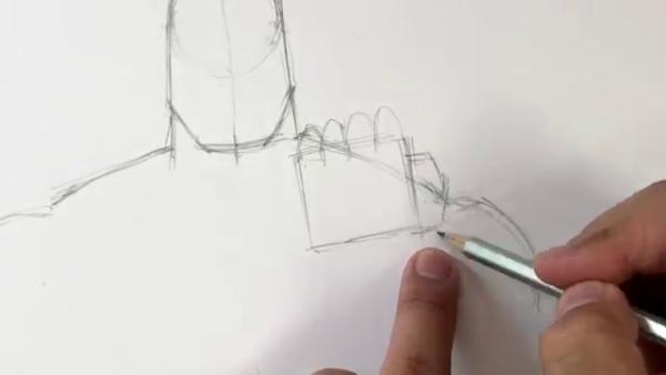 Как нарисовать Таноса из фильма 6
