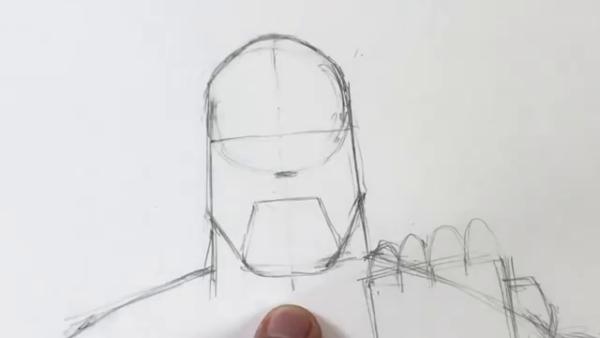 Как нарисовать Таноса из фильма 7