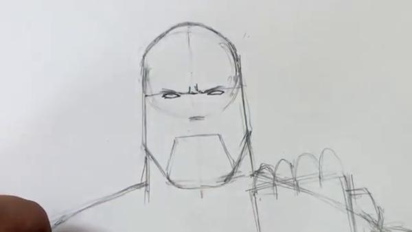 Как нарисовать Таноса из фильма 8