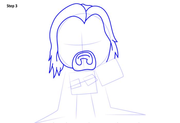 Рисуем супергероя Тора 3