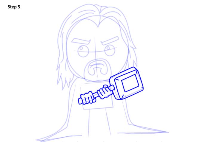 Рисуем супергероя Тора 5
