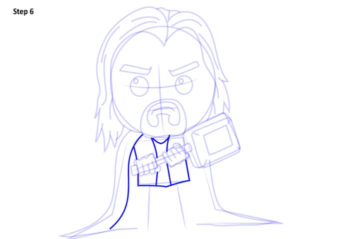 Рисуем супергероя Тора 6