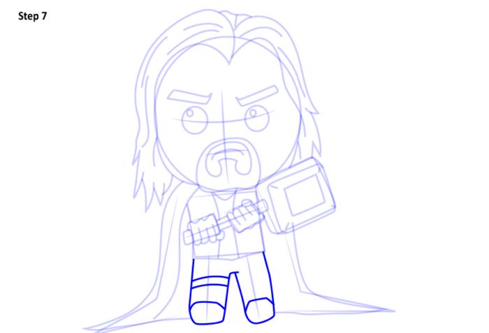 Рисуем супергероя Тора 7