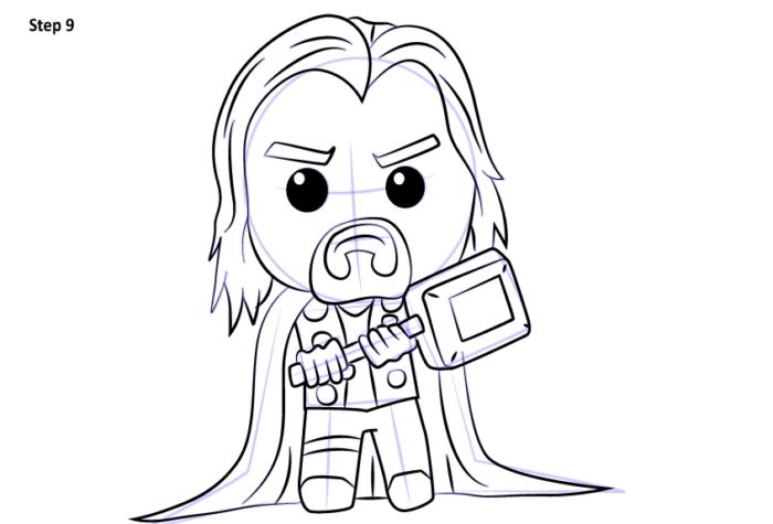 Рисуем супергероя Тора 9