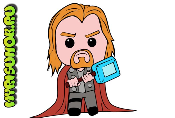 Рисуем супергероя Тора