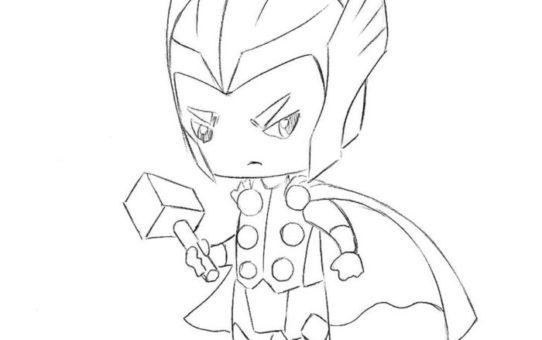 Как нарисовать Тора в стиле чиби 8