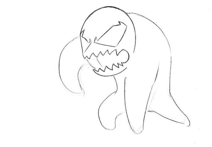 Как нарисовать чиби Венома 3