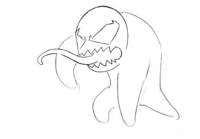 Как нарисовать чиби Венома 4