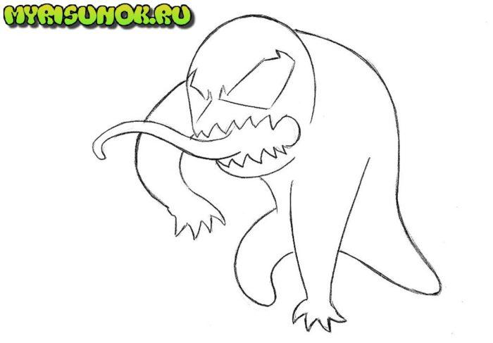 Как нарисовать чиби Венома 5