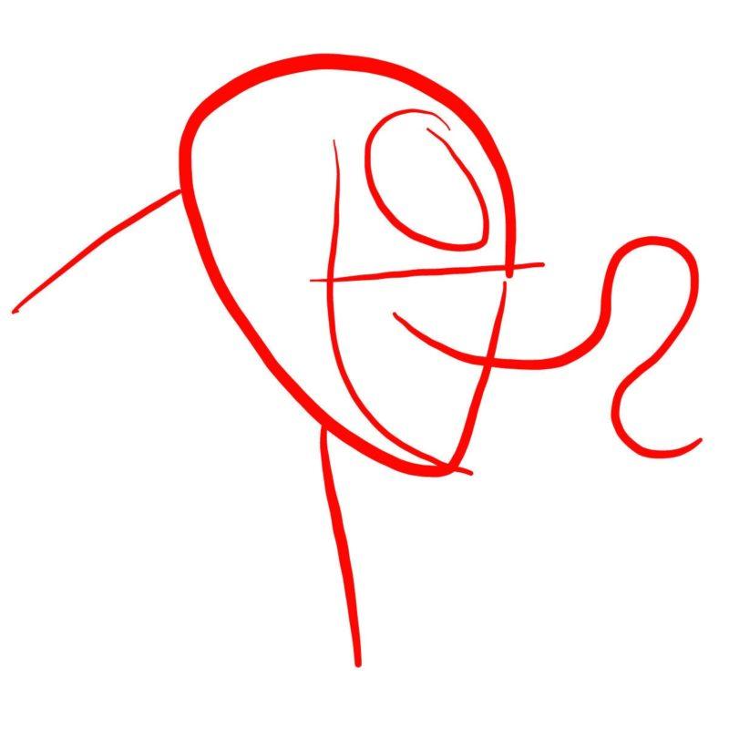 Рисуем голову Венома 1