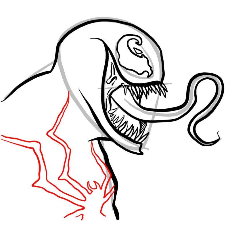 Рисуем голову Венома 10