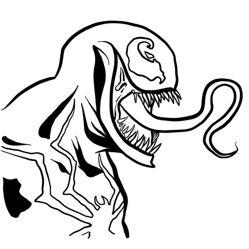 Рисуем голову Венома 12