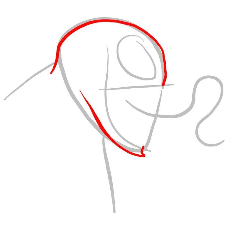 Рисуем голову Венома 2